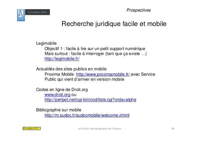 Prospectives                          Recherche juridique facile et mobile            Legimobile                Objectif 1...