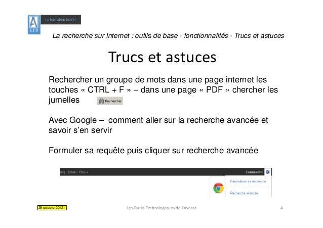 La recherche sur Internet : outils de base - fonctionnalités - Trucs et astuces                           Trucsetastuces...