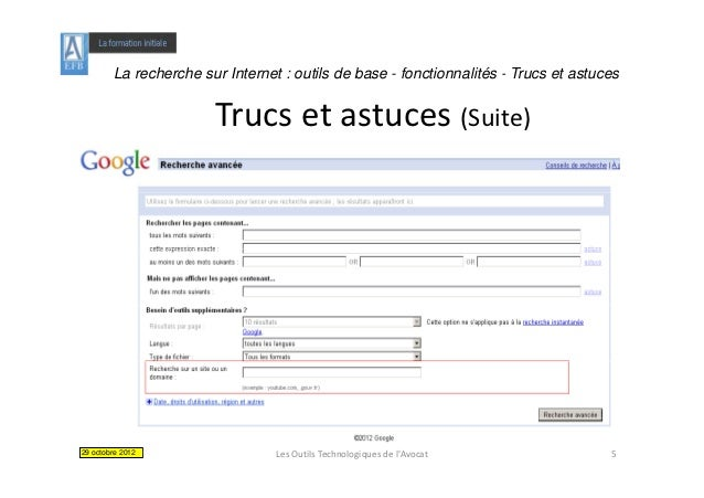La recherche sur Internet : outils de base - fonctionnalités - Trucs et astuces                       Trucsetastuces(Su...