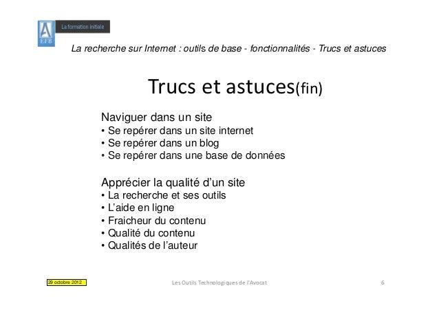 La recherche sur Internet : outils de base - fonctionnalités - Trucs et astuces                            Trucsetastuce...