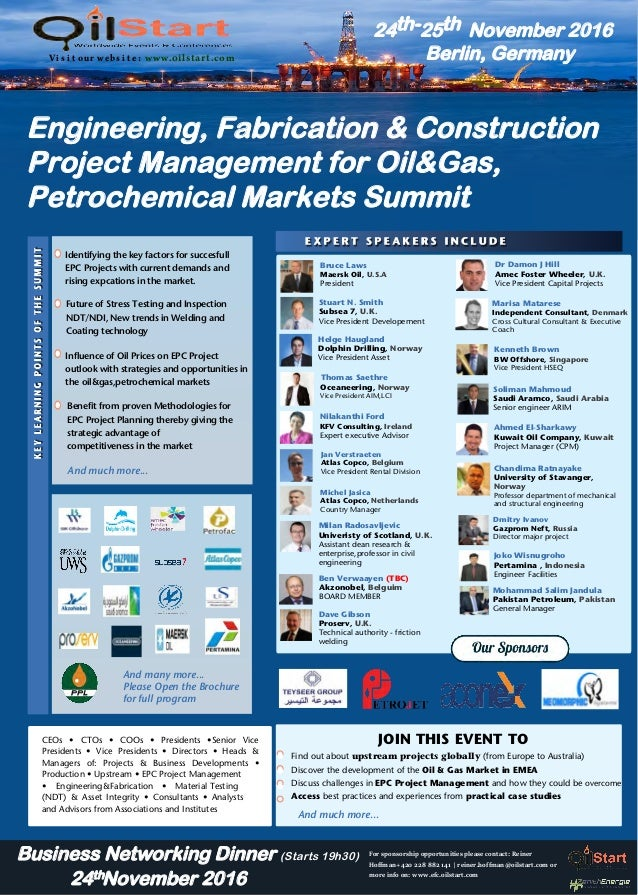 The Global Engineering, Fabrication & Construction Project Management…