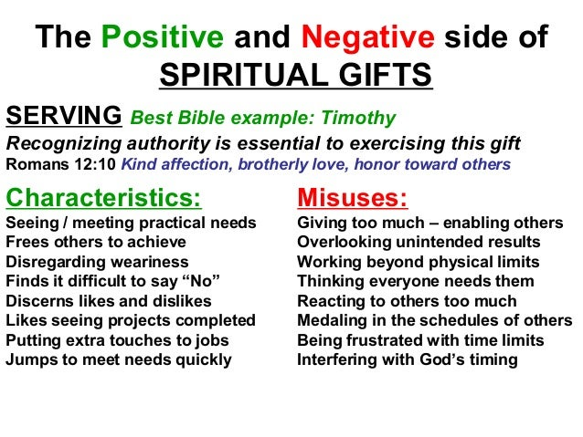 Efc natural talents spiritual gifts 29 the positive and negative side of spiritual gifts serving best bible negle Choice Image