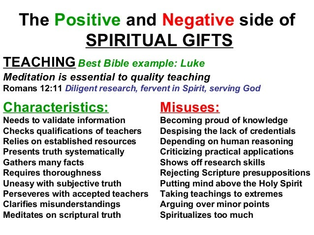 Efc natural talents spiritual gifts 30 the positive and negative side of spiritual gifts teachingbest bible negle Images