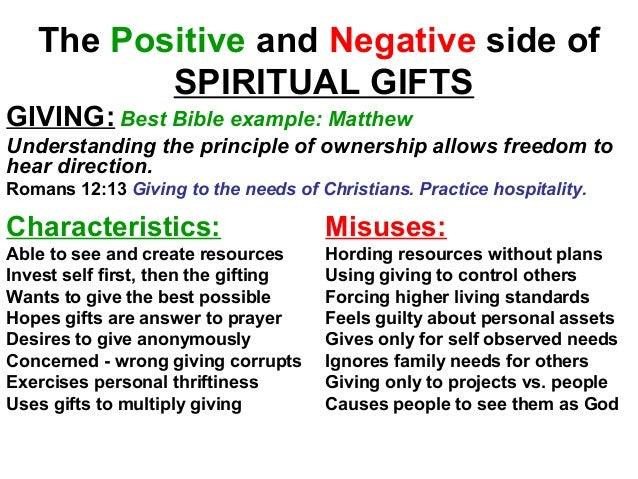 Efc natural talents spiritual gifts uncooperative people 32 the positive and negative side of spiritual gifts negle Choice Image