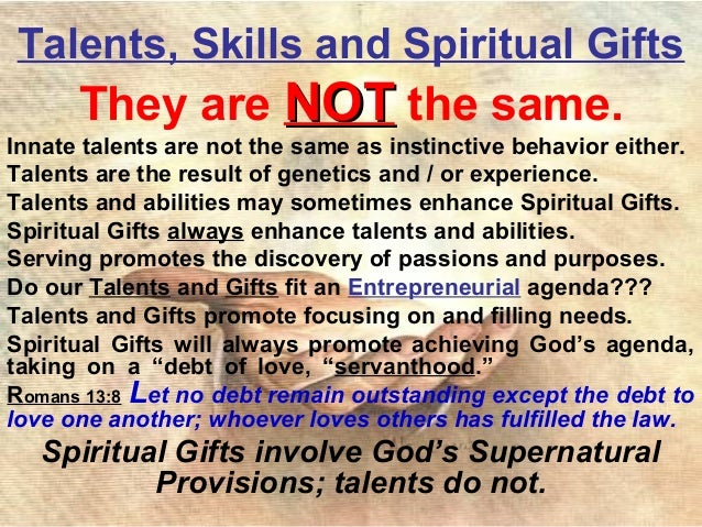 EFC - Natural Talents / Spiritual Gifts