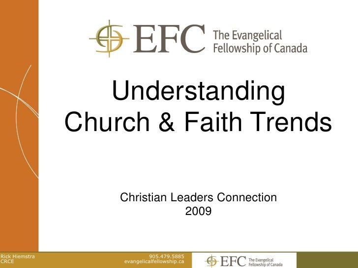 Understanding                 Church & Faith Trends                      Christian Leaders Connection                     ...