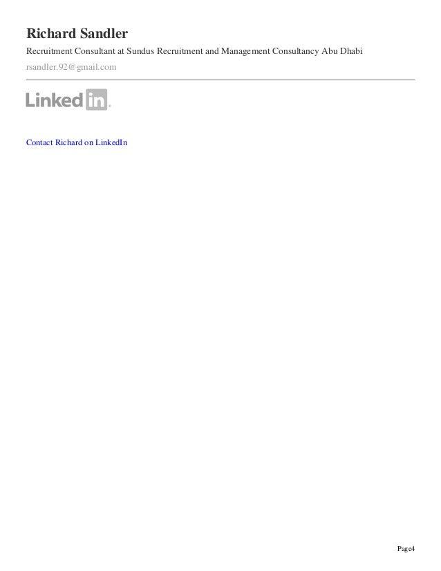 Page4 Richard Sandler Recruitment Consultant at Sundus Recruitment and Management Consultancy Abu Dhabi rsandler.92@gmail....