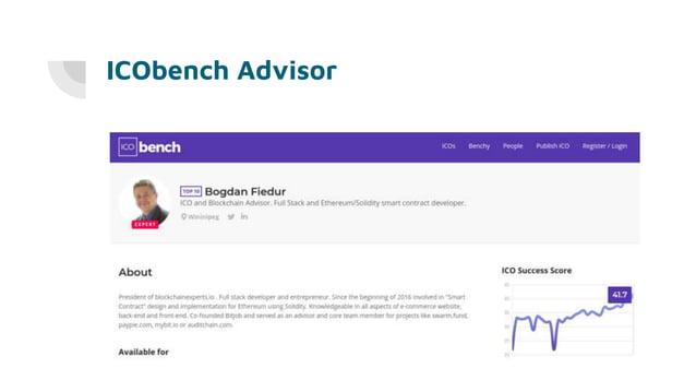 ICObench Advisor