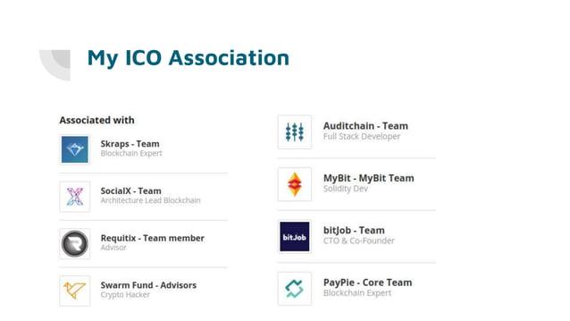 My ICO Association