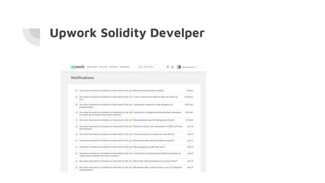 Upwork Solidity Develper