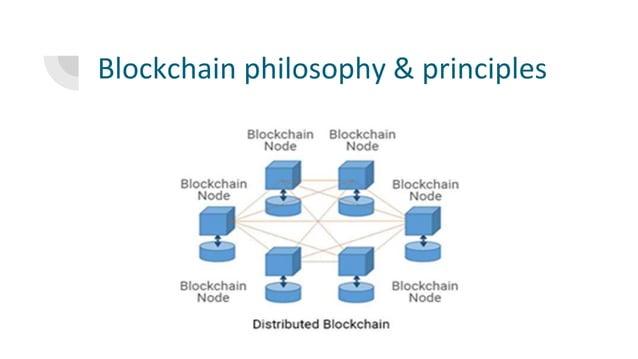 Blockchain philosophy & principles