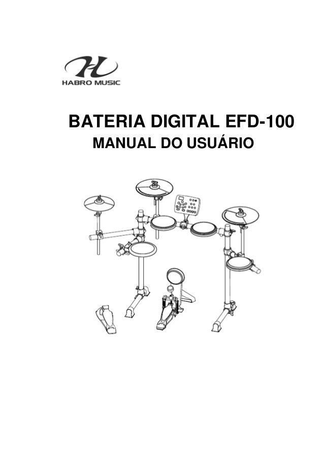 Manual da Bateria Eletrônica Fenix EFD 100 (PORTUGUÊS)