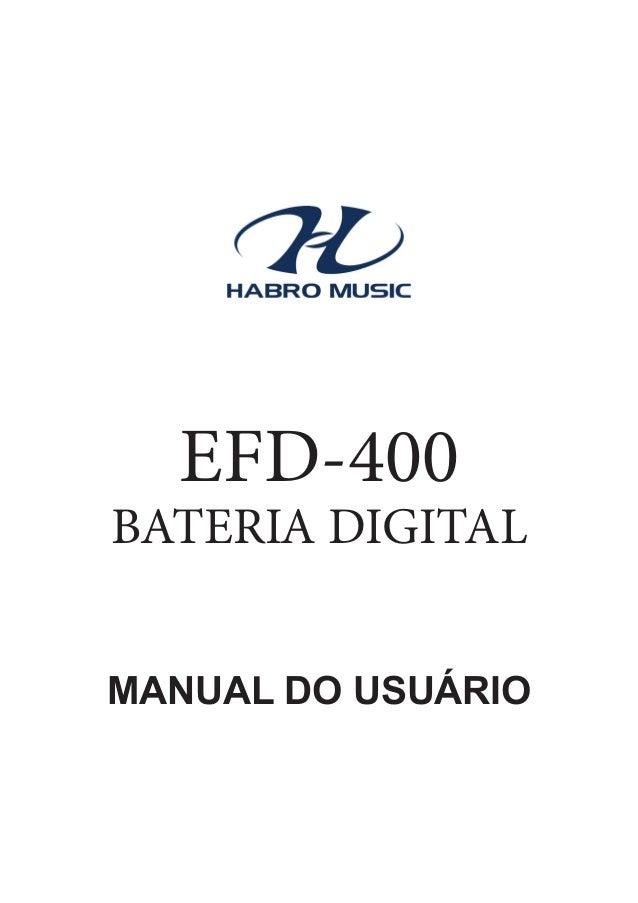Manual da Bateria Eletrônica Fenix EFD 400 (PORTUGUÊS)