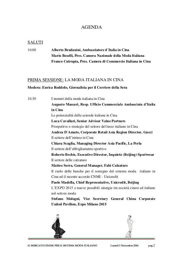 Agenda workshop camera della moda for Camera di commercio italiana in cina