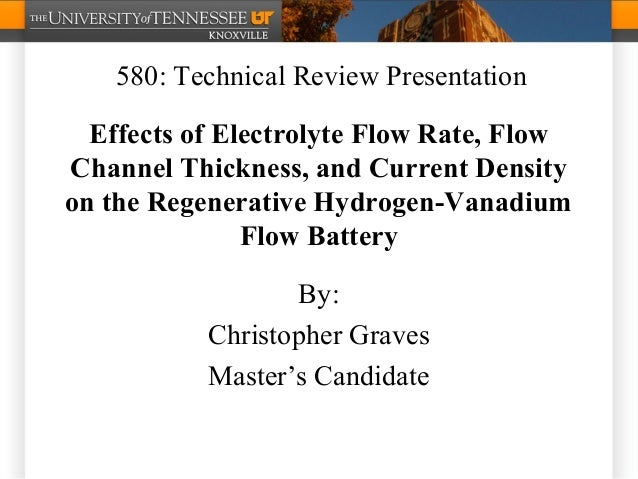 Effects of Electrolyte Flow Rate, Flow Channel Thickness, and Current Density on the Regenerative Hydrogen-Vanadium Flow B...