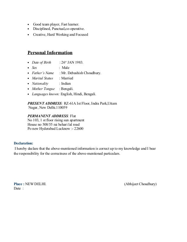resume for axis bank
