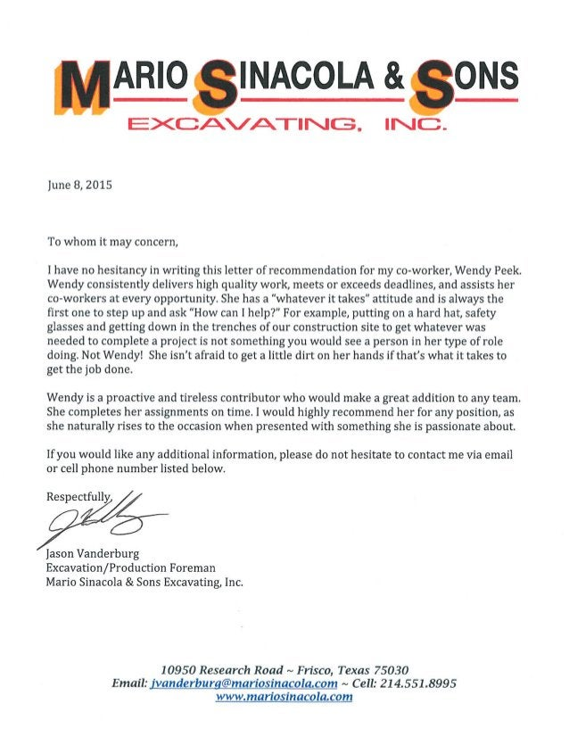 Recommendation Letter from Jason Vanderburg 06082015