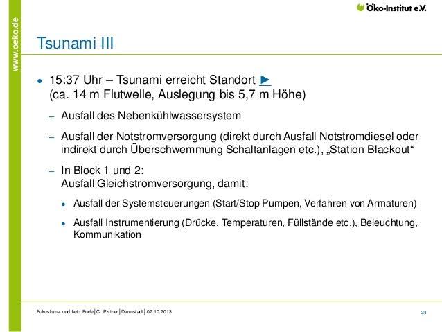 www.oeko.de  Tsunami III ●  15:37 Uhr – Tsunami erreicht Standort ► (ca. 14 m Flutwelle, Auslegung bis 5,7 m Höhe) ‒  Ausf...