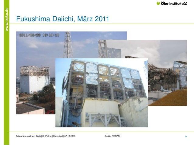 www.oeko.de  Fukushima Daiichi, März 2011  Fukushima und kein Ende│C. Pistner│Darmstadt│07.10.2013  Quelle: TECPO  34