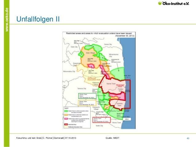 www.oeko.de  Unfallfolgen II  Fukushima und kein Ende│C. Pistner│Darmstadt│07.10.2013  Quelle: MEXT  43