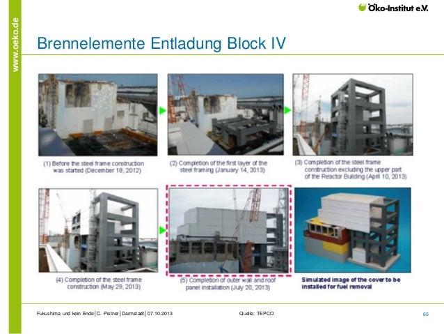 www.oeko.de  Brennelemente Entladung Block IV  Fukushima und kein Ende│C. Pistner│Darmstadt│07.10.2013  Quelle: TEPCO  65