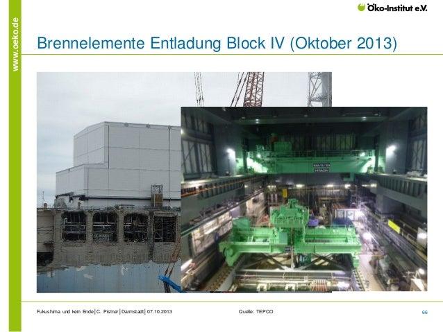 www.oeko.de  Brennelemente Entladung Block IV (Oktober 2013)  Fukushima und kein Ende│C. Pistner│Darmstadt│07.10.2013  Que...