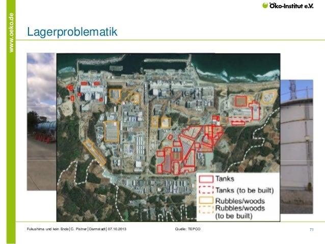 www.oeko.de  Lagerproblematik  Fukushima und kein Ende│C. Pistner│Darmstadt│07.10.2013  Quelle: TEPCO  71