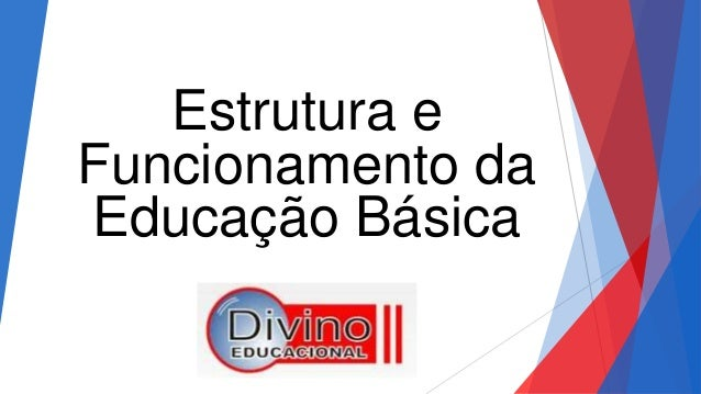 Estrutura e Funcionamento da Educação Básica