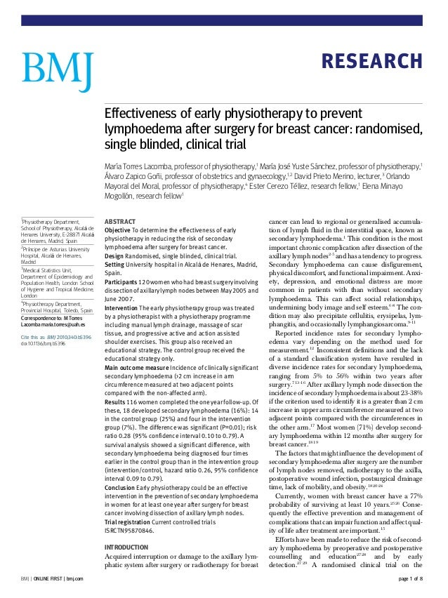 RESEARCH                                     Effectiveness of early physiotherapy to prevent                              ...