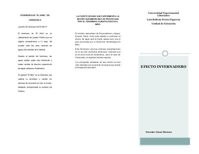 "Universidad Experimental Libertador Luis Beltrán Prieto Figueroa Unidad de Extensión Docente: Oscar Moreno. FENÓMENO DE ""E..."