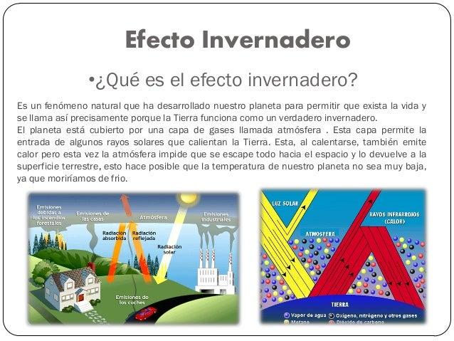 que efectos produce el efecto invernadero