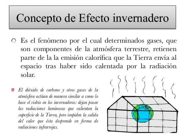 concepto del efecto invernadero