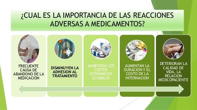 Efectos adversos a medicamentos