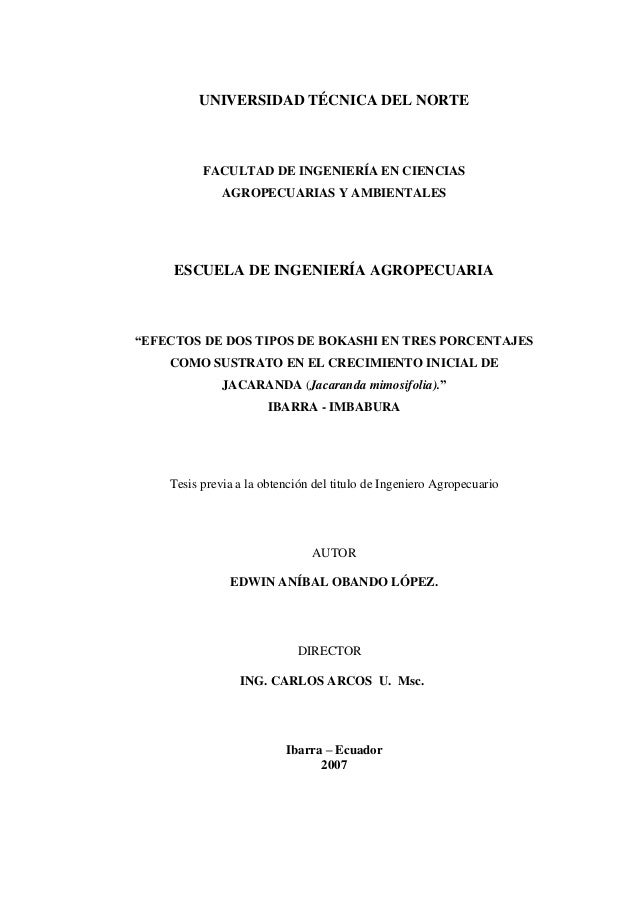UNIVERSIDAD TÉCNICA DEL NORTE  FACULTAD DE INGENIERÍA EN CIENCIAS  AGROPECUARIAS Y AMBIENTALES  ESCUELA DE INGENIERÍA AGRO...