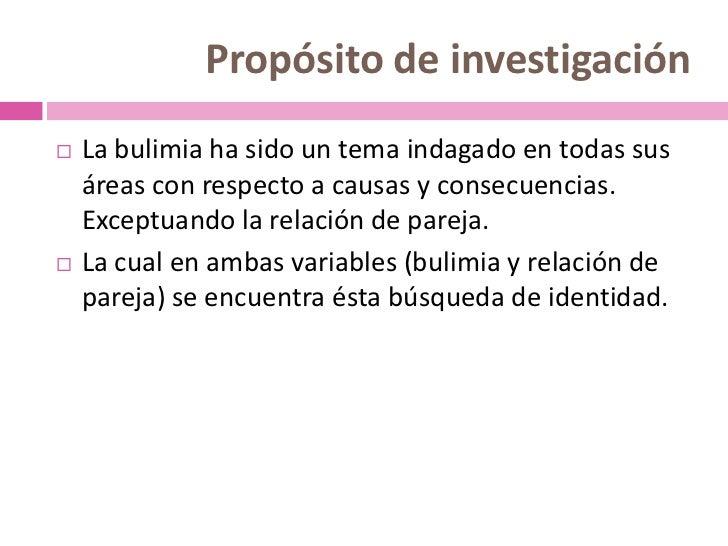 Efectos de la bulimia en relación de pareja Slide 3