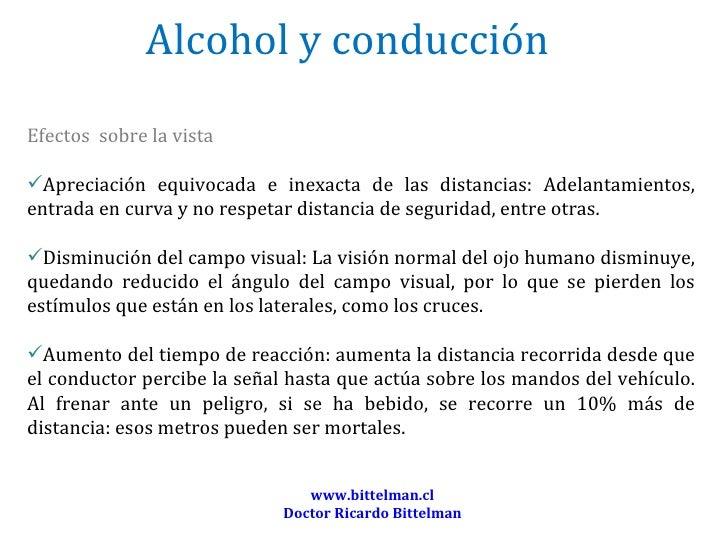Efectos del alcohol en la vista