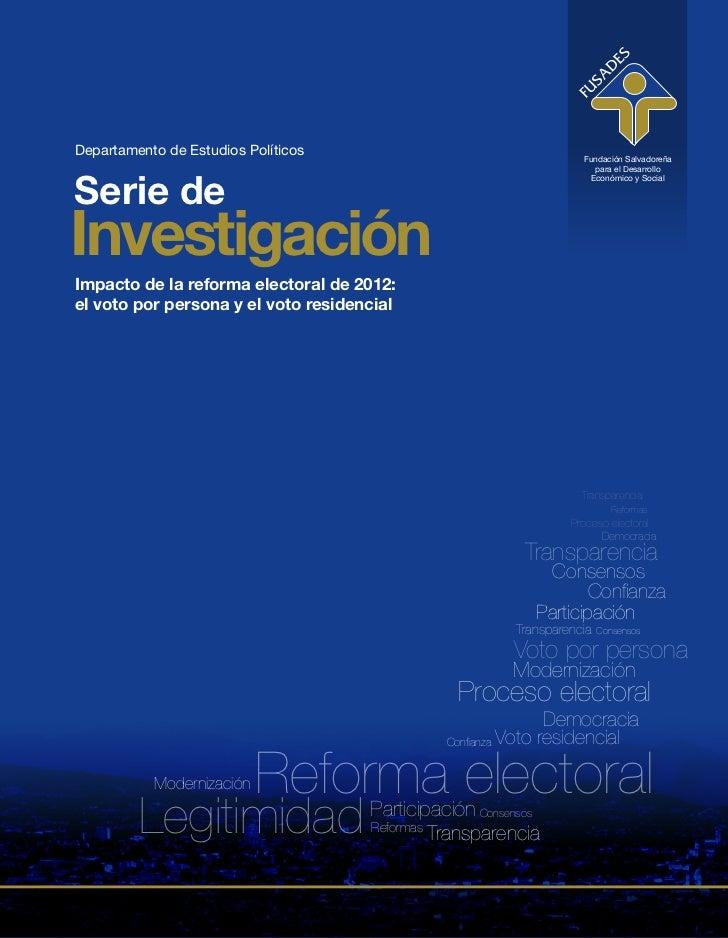 Departamento de Estudios Políticos                                    Fundación Salvadoreña                               ...