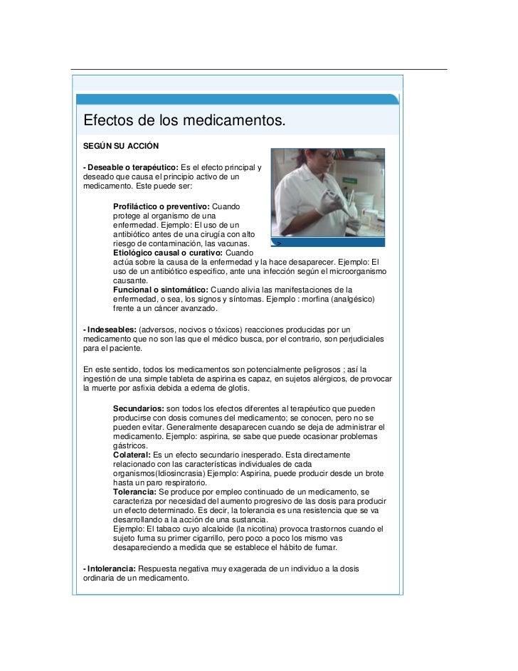 Principio del formulario<br />Final del formulario<br /> Efectos de los medicamentos.>SEGÚN SU ACCIÓN - Deseable o terapé...