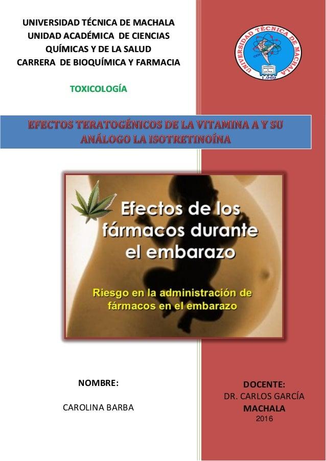 0 DOCENTE: DR. CARLOS GARCÍA MACHALA 2016 UNIVERSIDAD TÉCNICA DE MACHALA UNIDAD ACADÉMICA DE CIENCIAS QUÍMICAS Y DE LA SAL...