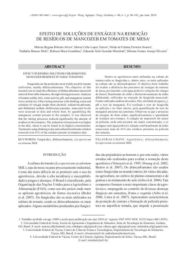 e-ISSN 1983-4063 - www.agro.ufg.br/pat - Pesq. Agropec. Trop., Goiânia, v. 40, n. 1, p. 96-101, jan./mar. 2010            ...