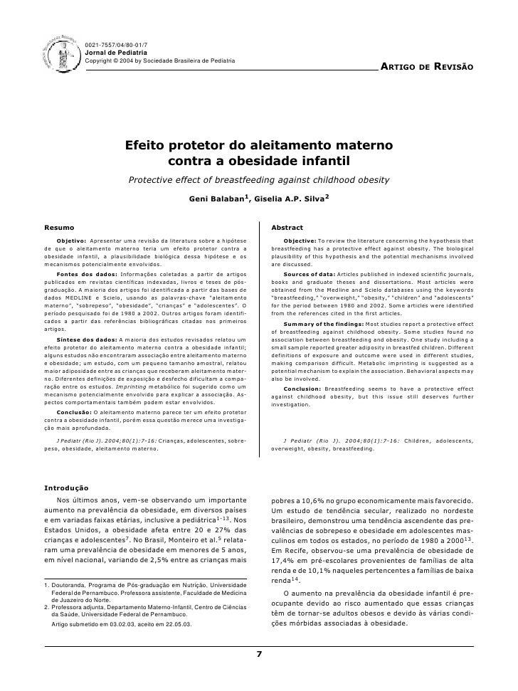 0021-7557/04/80-01/7               Jornal de Pediatria               Copyright © 2004 by Sociedade Brasileira de Pediatria...