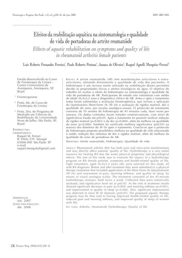 Fisioterapia e Pesquisa, São Paulo, v.15, n.2, p.136-41, abr./jun. 2008                                                   ...