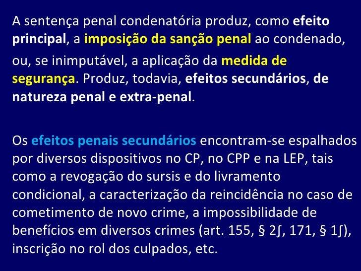 Efeitos da Condenação Slide 2