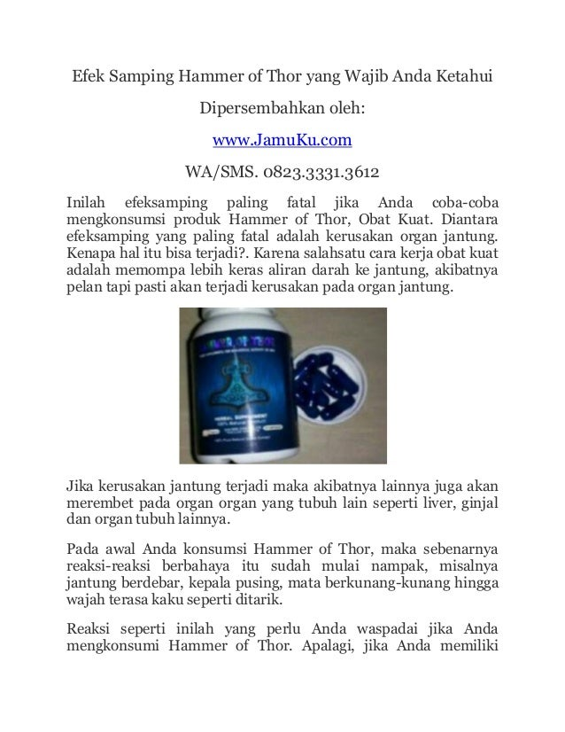 hammer of thor terbaru www klinikobatindonesia com agen resmi