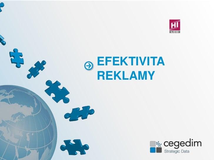 EFEKTIVITA REKLAMY<br />