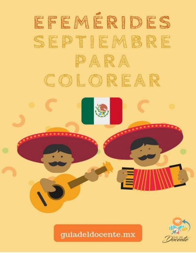 Aprende Y Colorea Las Efemérides De Septiembre
