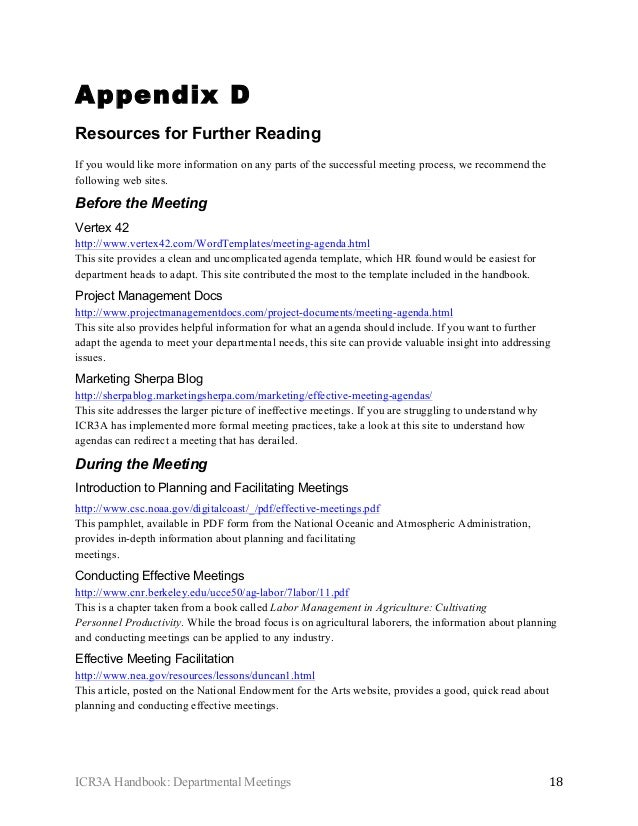 department meeting agenda template