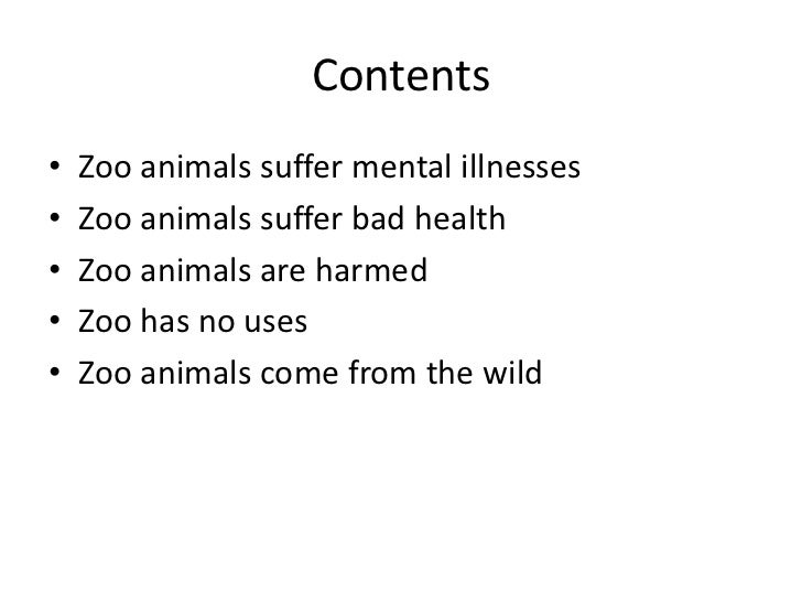 Thesis for why zoos are bad