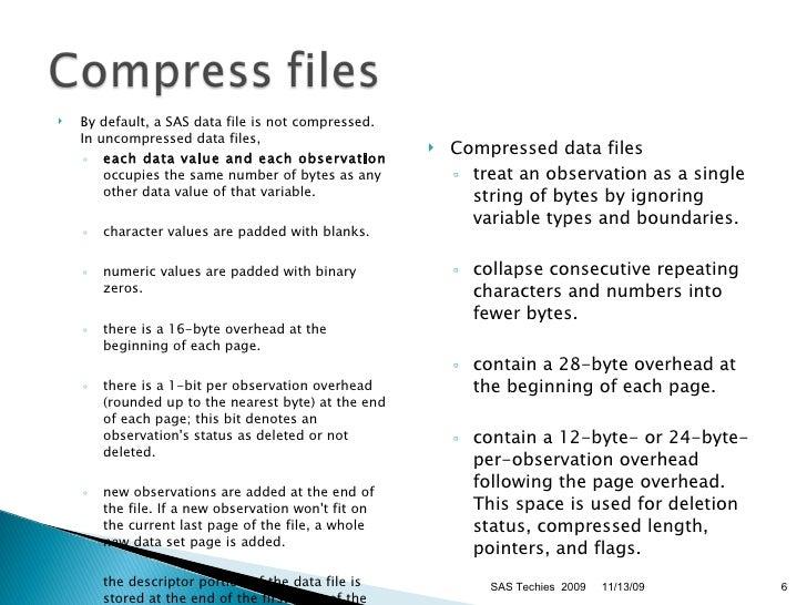 Sas options compress=binary binary options brokers 2014