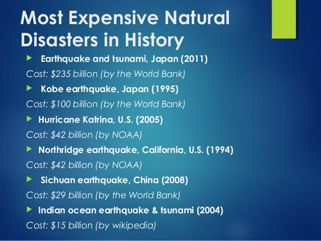 Effect Of Natural Disasters On Indian Economy